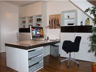 IKEA Hackers Besta work station with lots of storage