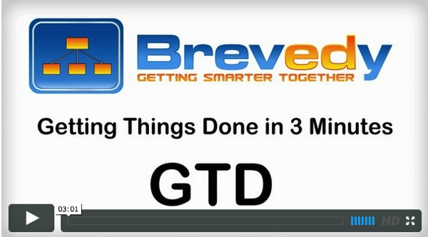 VIDEO Getting Things Done in 3 Minutes Brevedy
