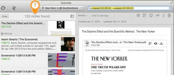 Evernote and Evernote Update and MarsEdit 2