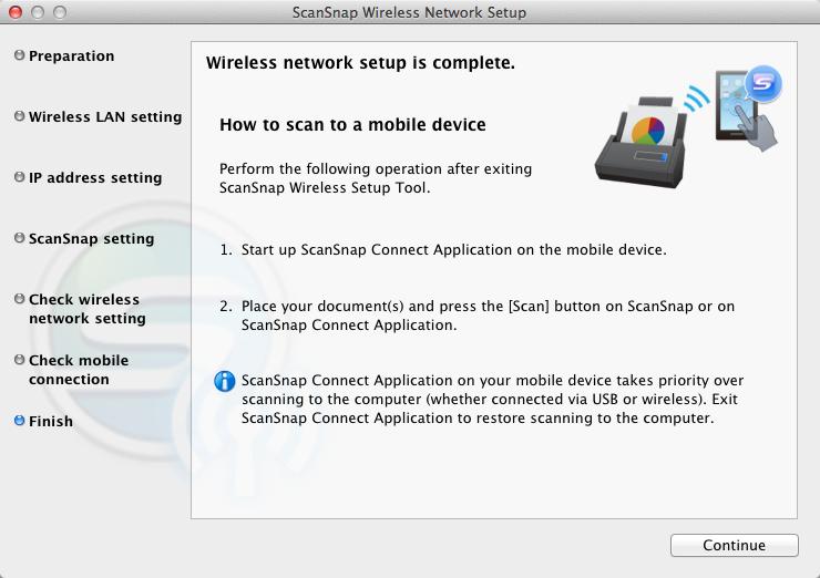 scansnap wireless setup tool download